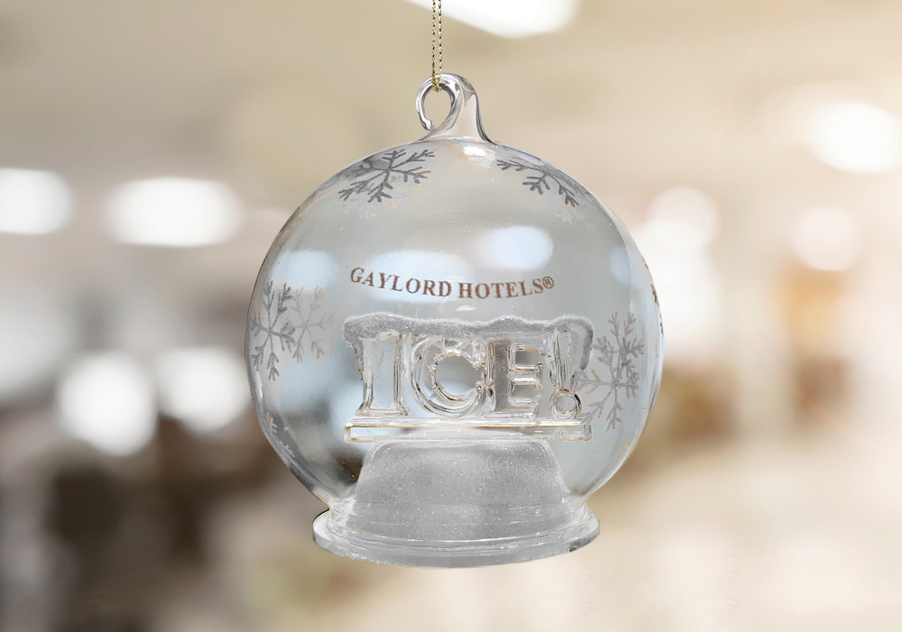 ICE! Globe LED Ornament